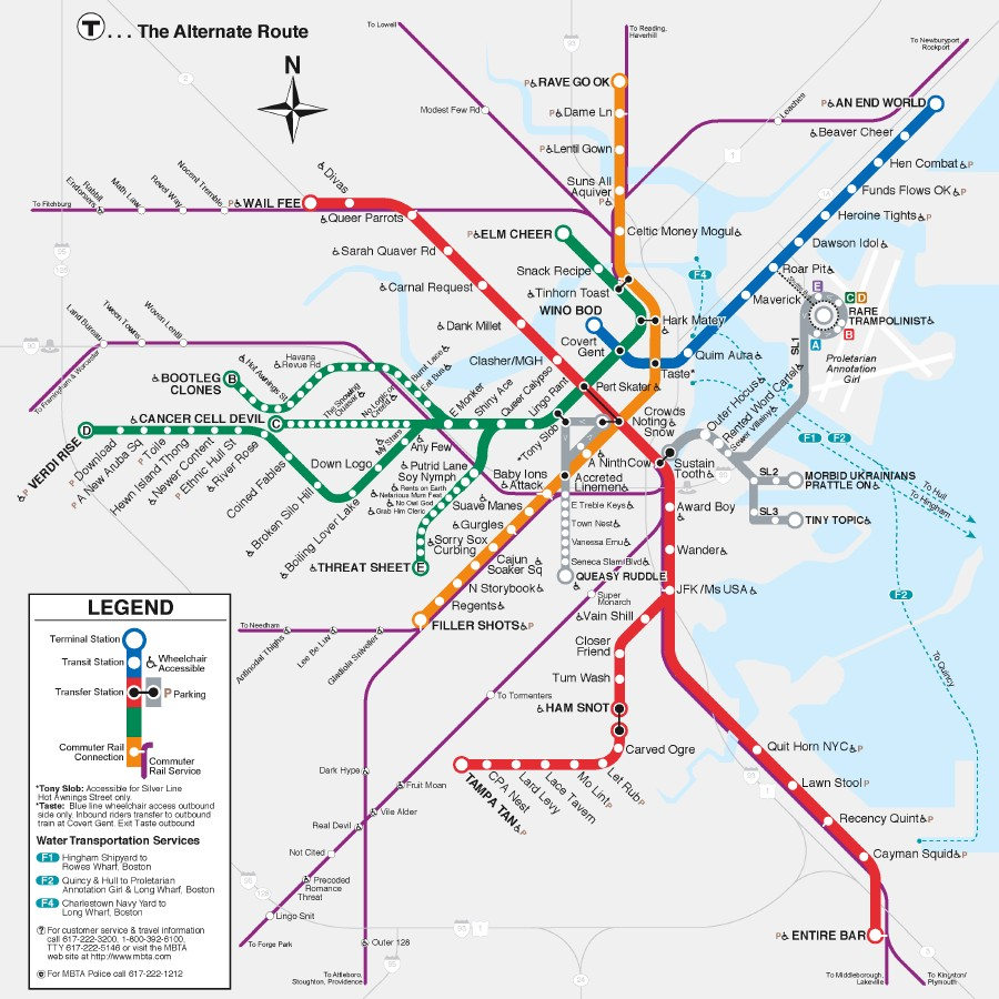 Boston Anagram T Map