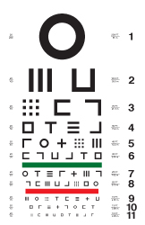 Abstract symbols eye chart #1