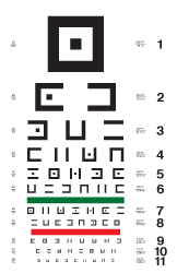 Abstract symbols eye chart #2