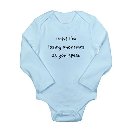 Losing phonemes infant bodysuit