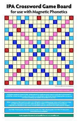 IPA Crossword game board for Magnetic Phonetics